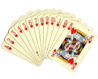 πλήρης κλίμακα pocker καρτών Στοκ εικόνα με δικαίωμα ελεύθερης χρήσης