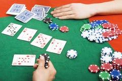 πλήρης κλίση πόκερ Στοκ Εικόνα