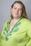 πλήρης kirky γυναίκα χαμόγελ&omicron Στοκ Εικόνες