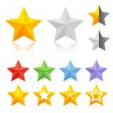 Πλήρη εικονίδια αστεριών χρώματος Στοκ εικόνα με δικαίωμα ελεύθερης χρήσης