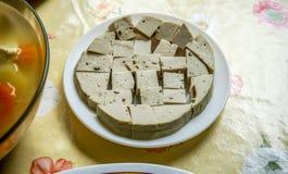 Πλήρη κρέας-ελεύθερα ασιατικά χορτοφάγα πιάτα Vegan με τα λαχανικά, tofu Στοκ Εικόνα