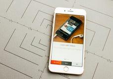 Πλίθα app στο iPhone 7 συν τα προγράμματα εφαρμογών Στοκ φωτογραφία με δικαίωμα ελεύθερης χρήσης