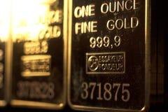 Πλίνθωμα 999 χρυσής ράβδου φραγμός 9 στοκ φωτογραφία με δικαίωμα ελεύθερης χρήσης