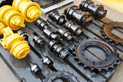 Πλαίσια ανταλλακτικών των μηχανημάτων κατασκευής Στοκ εικόνα με δικαίωμα ελεύθερης χρήσης