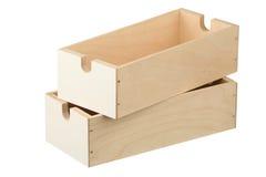πλαίσια δύο ξύλινα Στοκ Φωτογραφίες