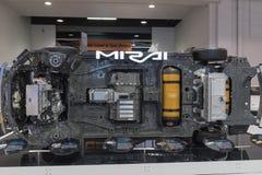 Πλαίσια της Toyota Mirai στην επίδειξη στοκ φωτογραφίες