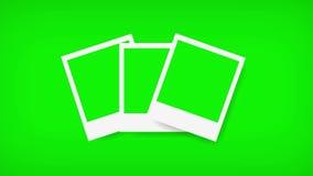 Πλαίσια Polaroids με την πράσινη οθόνη για τη φωτογραφία σας 4K διανυσματική απεικόνιση