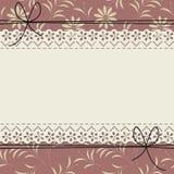 Πλαίσιο δαντελλών με το floral σχέδιο Στοκ Εικόνες