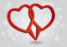 Πλαίσιο διαλόγου καρδιών Στοκ εικόνα με δικαίωμα ελεύθερης χρήσης