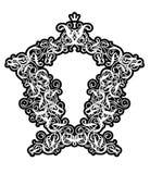 πλαίσιο ΙΙ στυλ ροκοκό Στοκ Εικόνες