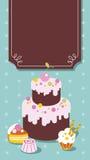 πλαίσιο κέικ Στοκ Εικόνες