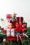 Πλαίσιο και υπόβαθρο δώρων Χριστουγέννων στοκ φωτογραφία με δικαίωμα ελεύθερης χρήσης