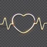 Πλαίσιο καρδιών νέου Στοκ φωτογραφίες με δικαίωμα ελεύθερης χρήσης