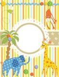πλαίσιο καρτών μωρών Διανυσματική απεικόνιση