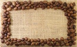 πλαίσιο καφέ φασολιών Στοκ Φωτογραφία