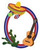 πλαίσιο μεξικανός Στοκ Εικόνα
