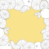 Πλαίσιο με τα πορτοκάλια Χέρια σχεδίων Θέση για το κείμενό σας διανυσματική απεικόνιση