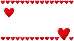 Πλαίσιο με τις μεγάλες και μικρές καρδιές ελεύθερη απεικόνιση δικαιώματος