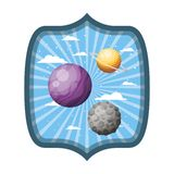 Πλαίσιο με τους πλανήτες του ηλιακού συστήματος απεικόνιση αποθεμάτων
