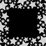 Πλαίσιο με shimmer τα αστέρια Ασημένιο πλαίσιο σπινθηρίσματος των αστεριών στοκ φωτογραφία