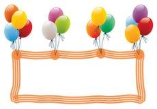 πλαίσιο μπαλονιών Στοκ Εικόνες