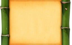 πλαίσιο μπαμπού Στοκ Φωτογραφία