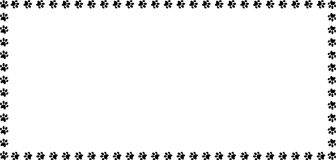 Πλαίσιο ορθογωνίων φιαγμένο από μαύρες ζωικές τυπωμένες ύλες ποδιών στο άσπρο υπόβαθρο ελεύθερη απεικόνιση δικαιώματος