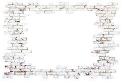 Πλαίσιο - παλαιός τουβλότοιχος στοκ εικόνα