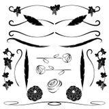Πλαίσιο Περίκομψες καλλιγραφικές γραμμές και διακόσμηση σελίδων στο floral ύφος για το κείμενο διάνυσμα Στοκ εικόνες με δικαίωμα ελεύθερης χρήσης