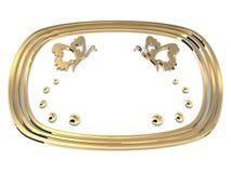 πλαίσιο πεταλούδων χρυ&sigma Στοκ Φωτογραφία