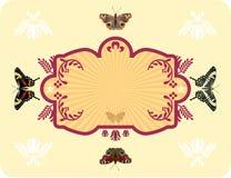 πλαίσιο πεταλούδων διανυσματική απεικόνιση
