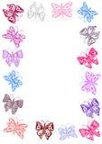 πλαίσιο πεταλούδων Στοκ Εικόνες
