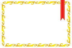 πλαίσιο πιστοποιητικών σ& Στοκ εικόνες με δικαίωμα ελεύθερης χρήσης
