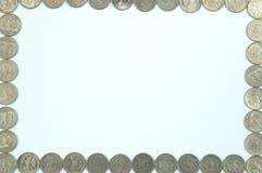 πλαίσιο ρωσικά νομισμάτων στοκ φωτογραφίες