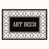 Πλαίσιο συνόρων του Art Deco διανυσματική απεικόνιση