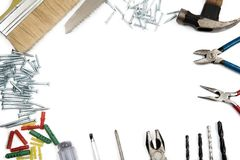 Πλαίσιο συνόρων των εργαλείων κατασκευής Στοκ εικόνα με δικαίωμα ελεύθερης χρήσης