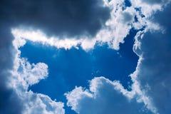 πλαίσιο σύννεφων Στοκ εικόνα με δικαίωμα ελεύθερης χρήσης