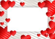 πλαίσιο, σύνορα με τις καρδιές διανυσματική απεικόνιση