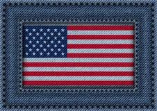 Πλαίσιο τζιν με τη σημαία των ΗΠΑ ελεύθερη απεικόνιση δικαιώματος
