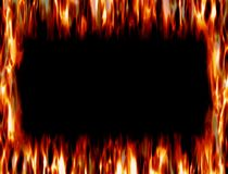Πλαίσιο της πυρκαγιάς και φλόγα Στοκ φωτογραφίες με δικαίωμα ελεύθερης χρήσης