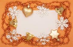 Πλαίσιο των διακοσμήσεων Χριστουγέννων Στοκ φωτογραφία με δικαίωμα ελεύθερης χρήσης
