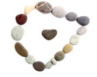 Πλαίσιο των χρωματισμένων πετρών θάλασσας Στοκ φωτογραφία με δικαίωμα ελεύθερης χρήσης