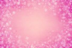 Πλαίσιο υποβάθρου χειμώνα ή Χριστουγέννων Στοκ Εικόνα