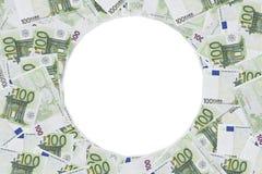 Πλαίσιο φωτογραφιών εκατό ευρο- σημειώσεων Στοκ φωτογραφίες με δικαίωμα ελεύθερης χρήσης