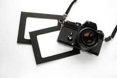 Πλαίσιο φωτογραφιών με τη κάμερα Στοκ φωτογραφία με δικαίωμα ελεύθερης χρήσης