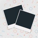 Πλαίσιο φωτογραφιών Polaroid σε ένα διαφανές υπόβαθρο επίσης corel σύρετε το διάνυσμα απεικόνισης Στοκ εικόνες με δικαίωμα ελεύθερης χρήσης