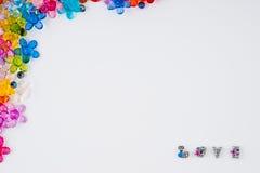 πλαίσιο χαντρών Στοκ εικόνα με δικαίωμα ελεύθερης χρήσης