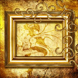 πλαίσιο χρυσό Στοκ φωτογραφία με δικαίωμα ελεύθερης χρήσης