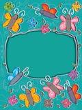 Πλαίσιο Card_eps πεταλούδων Στοκ φωτογραφίες με δικαίωμα ελεύθερης χρήσης