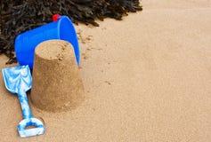 Πλαίσιο Sandcastle παραλιών Στοκ φωτογραφία με δικαίωμα ελεύθερης χρήσης